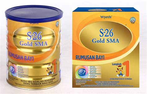 S26 Sma wyeth s26 gold sma milk powder stage 1 0 12month 900g