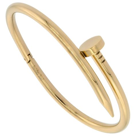 Amazon.com: Stainless Steel Nail Bracelet for Women Gold tone, fits 7 1/2 inch wrists: Jewelry