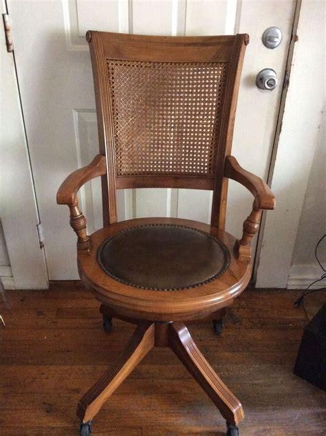 Antique Wooden Desk Chair by Antique Vintage Oak Office Desk Chair W Back Wood