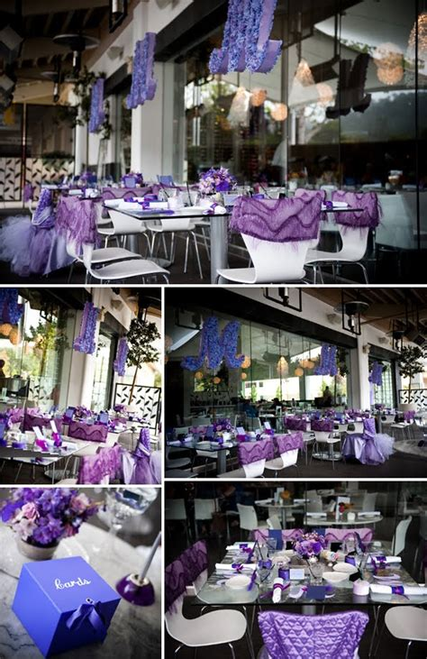 purple pink theme bridal wedding shower party ideas purple baby shower decorations party favors ideas