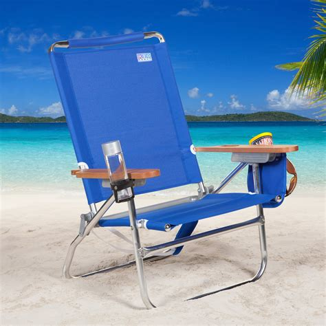 beach armchair rio sc680c blue beach bum beach chair beach chairs at