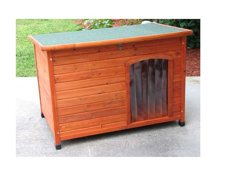 large cedar dog house slant roof cedar dog house large