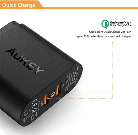 Aukey Usb Charger With Qualcomm Charge 20 Aipower aukey charger usb 2 port eu 36w dengan qc 2 0