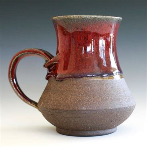 Handmade Ceramic Coffee Mugs - large coffee mug holds 20 oz handmade ceramic cup