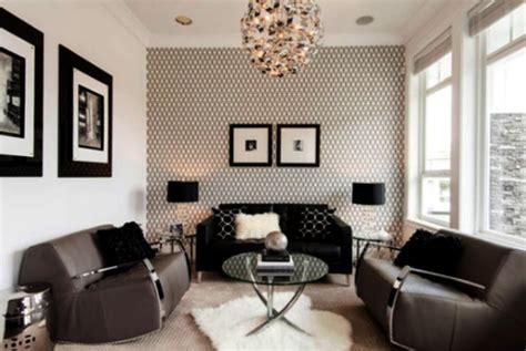 contoh wallpaper dinding ruang tamu sempit nirwana deco