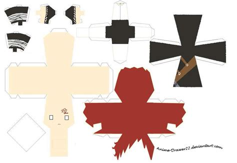 Papercraft Anime Templates - gaara papercraft template by innocently creating on deviantart