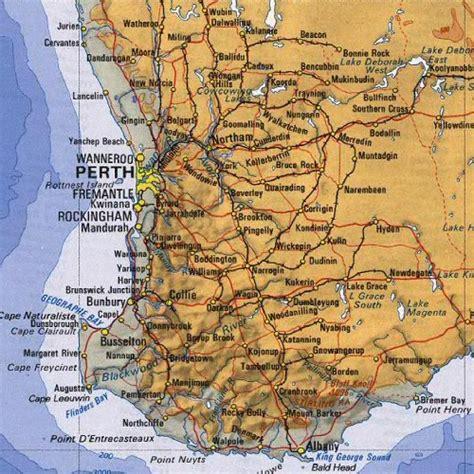 printable map perth city australia map perth