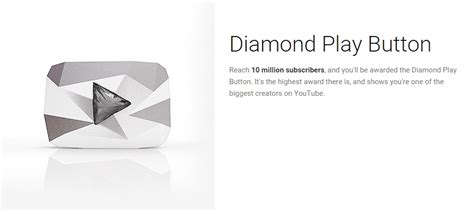 youtube gives new diamond play button to channels with 10 youtube play button 3 different youtube creator awards