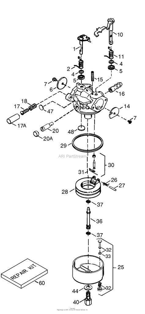 tecumseh engine carburetor diagram tecumseh tec 640340 parts diagram for carburetor