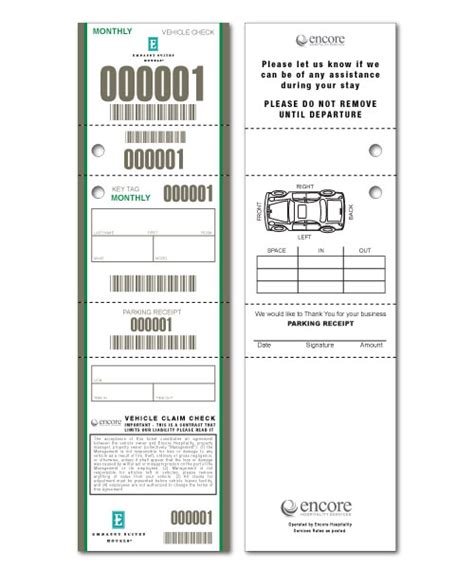 printable valet tickets the gallery for gt parking ticket sle