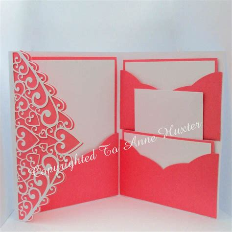folding invitation card template swirl pocket fold invitation template