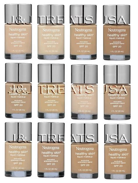12 all colors neutrogena healthy skin spf 20 liquid makeup all 12