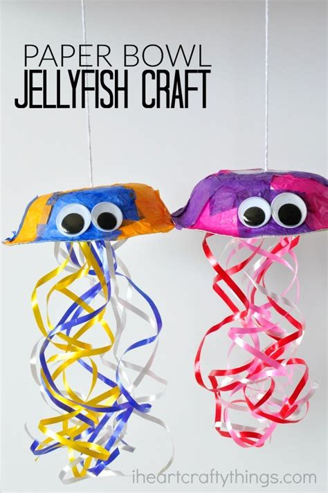 Paper Jellyfish Craft - 19 easy to make summer crafts for homelovr