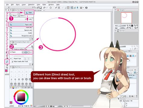 paint tool sai rulers draw with ruler trial tour clip studio net
