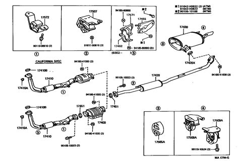2004 toyota camry exhaust system diagram 7 best images of 2006 toyota tundra engine diagram 2009