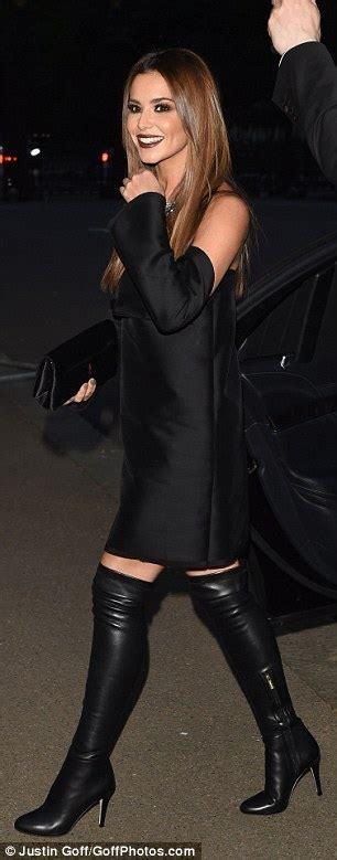 Arisya Dress cheryl stuns at vogue 100 gala dinner in bardot dress