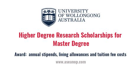 Sydney Business School Of Wollongong Mba Fees by Of Wollongong Higher Degree Research