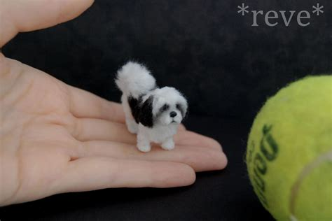 minature shih tzu miniature shih tzu handmade sculpture by reveminiatures on deviantart