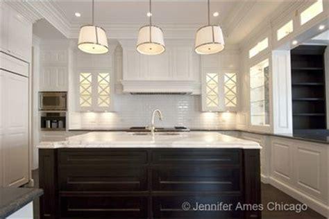white kitchen cabinets with dark island espresso kitchen chase pendants transitional kitchen