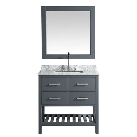 design element two london 36 in w x 22 in d vanity in design element london 36 in w x 22 in d vanity in gray