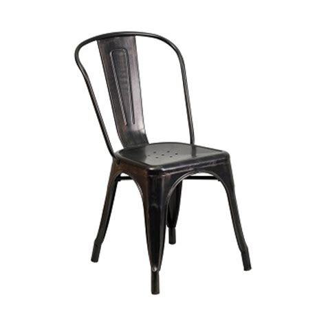 Galvanized Bistro Chair Galvanized Antique Black Copper Tolix Chair Metalrestaurantchairs