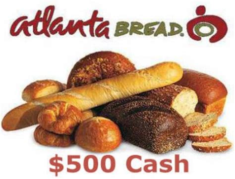 Atlanta Sweepstakes - www atlantabreadsurvey com win 500 cash every month in the atlanta bread guest