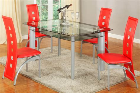 red dining room sets metro red 5 piece dining set dining furniture room set