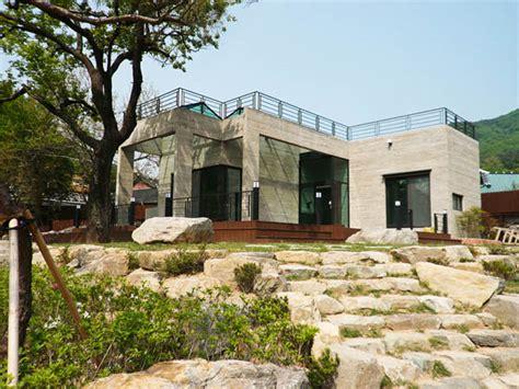 modern home design korea แบบบ านช นเด ยวหล งเล ก ไม ม หล งคา ด านบนทำเป นระเบ ยงชม