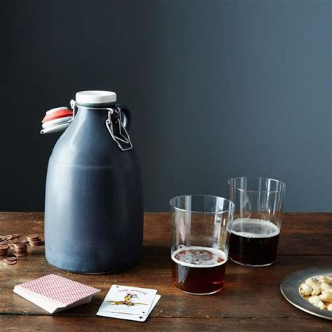 Handmade Growler - slip cast grigri growler 64 oz kitchens and wine