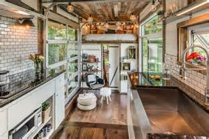 interior view from kitchen the alpha tiny home by new frontier tiny