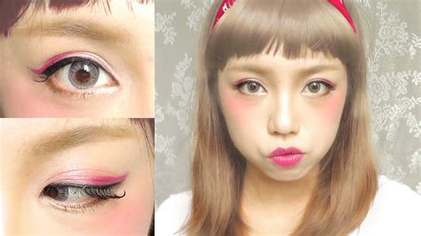 Mascara Harajuku japanese harajuku makeup zipper inspired