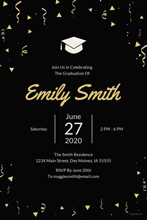 Free Graduation Invitation Template In Microsoft Word Microsoft Publisher Adobe Illustrator Free Graduation Invitation Templates