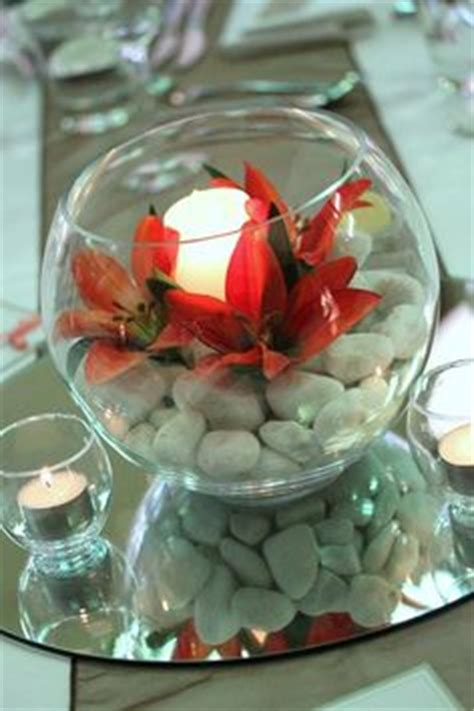 1000 Images About Fishbowl Wedding Centerpiece Ideas On Glass Bowl Centerpiece Decorating Ideas