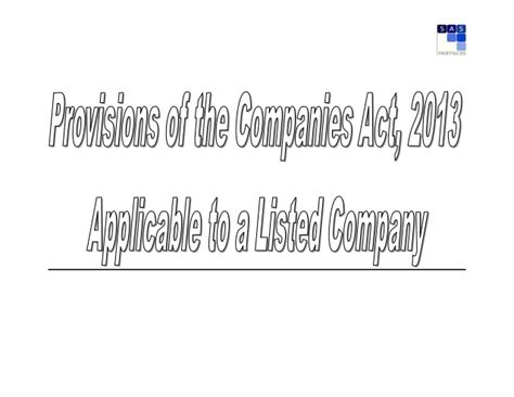 section 10 companies act action points for listed companies under companies act 2013