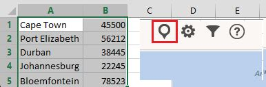 use maps in office excel 2013