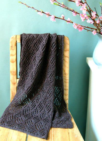 checkered knitting pattern checkerboard lace scarf knitting bee