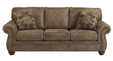 faux leather sleeper sofa faux leather traditional sofa sleeper by signature