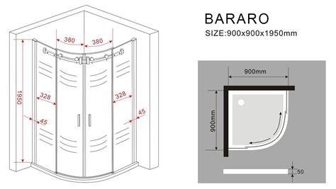 schiebetür 100 cm duschkabine bararo 90 x 90 x 195 cm viertelkreis ohne
