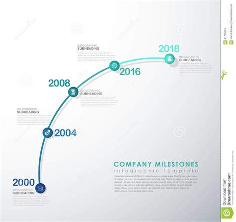 infographic startup milestones timeline vector template