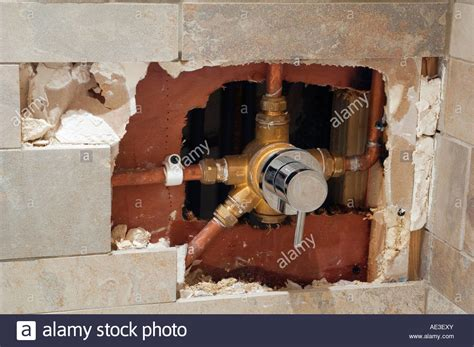 Leaking Shower Diverter Valve by Exposed 4 Way Diverter Valve In Domestic Shower After