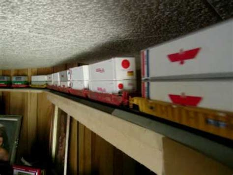 living room train layout 43 car ho scale train around top of my living room youtube