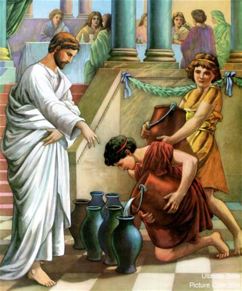 Bible Wedding At Canaan by 2 Bible Pictures The Servants Filling The Waterpots