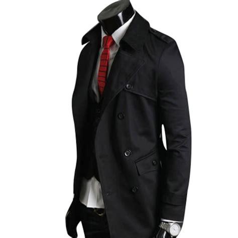 Pea Coat Winter Coat Trench Coat Jacket Coat Coat Pria Blc 8 mens slim trench coat breasted pea coat winter jacket overcoat ebay