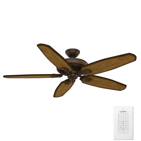 60 ceiling fan with remote casablanca fellini 60 in indoor provence crackle bronze