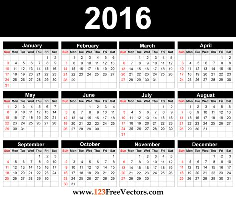 Lounge72 Pdf Calendars by Printable 2016 Calendar Template By 123freevectors On