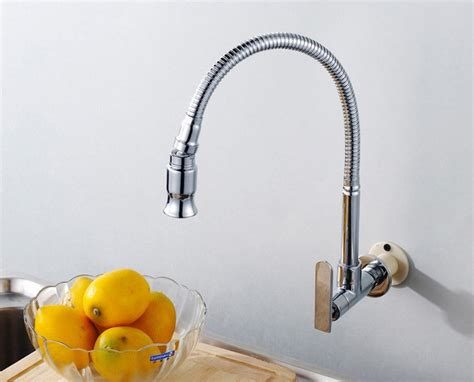 wall mount kitchen faucet with sprayer