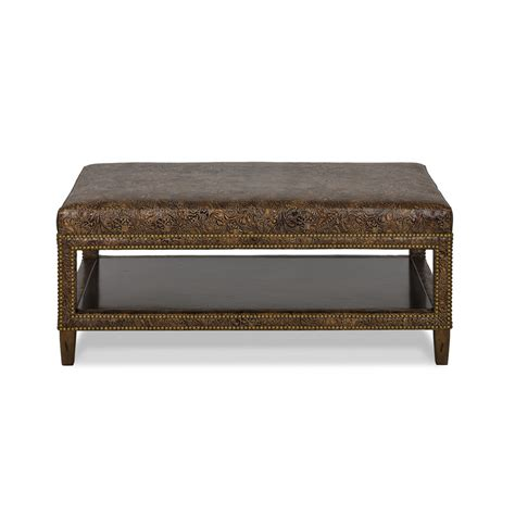 hancock and moore leather ottoman hancock and moore 089 edgar ottoman discount furniture at