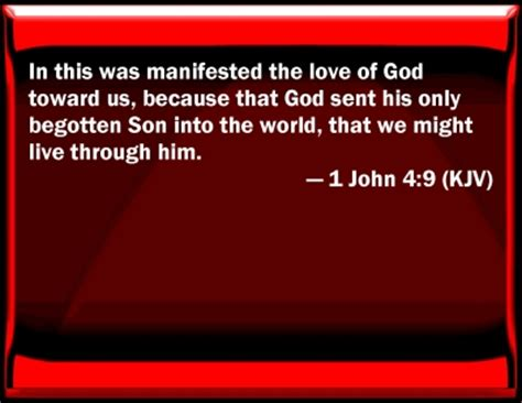 bible verse powerpoint slides for 1 john 4:9