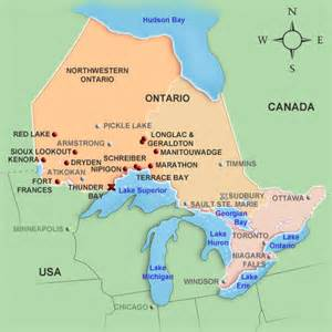 mildred baena map of ontario cities and towns
