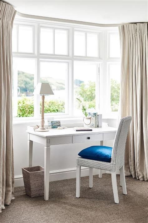 white bedroom desk white desk with white wicker chair cottage bedroom